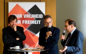 Kreutzmüller, Van der Laar en Cahen. Afb.: Nationaal Comité 4 en 5 mei/Marco de Swart